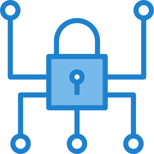 cyber security padlock icon
