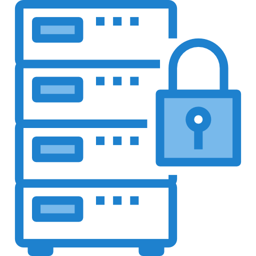 cyber security server icon