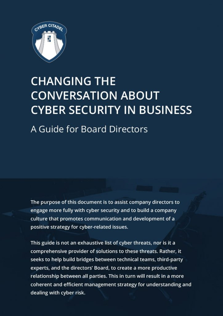 Cyber Security Guide for Board Directors white paper